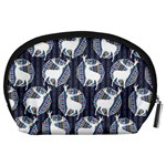Geometric Deer Retro Pattern Accessory Pouches (Large)  Back