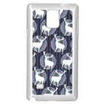 Geometric Deer Retro Pattern Samsung Galaxy Note 4 Case (White) Front
