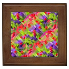 Colorful Mosaic Framed Tiles by DanaeStudio