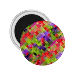 Colorful Mosaic 2 25  Magnets by DanaeStudio