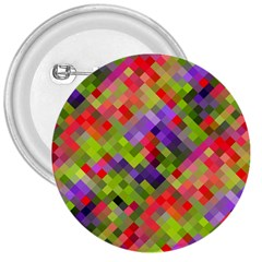 Colorful Mosaic 3  Buttons by DanaeStudio