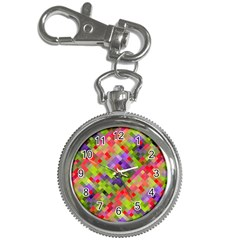 Colorful Mosaic Key Chain Watches by DanaeStudio
