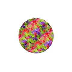 Colorful Mosaic Golf Ball Marker (10 Pack) by DanaeStudio
