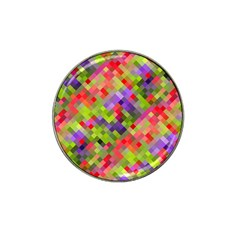 Colorful Mosaic Hat Clip Ball Marker (10 Pack) by DanaeStudio