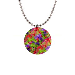 Colorful Mosaic Button Necklaces by DanaeStudio