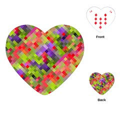 Colorful Mosaic Playing Cards (heart)  by DanaeStudio