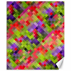 Colorful Mosaic Canvas 8  X 10  by DanaeStudio