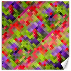 Colorful Mosaic Canvas 20  X 20   by DanaeStudio