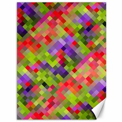 Colorful Mosaic Canvas 36  X 48   by DanaeStudio