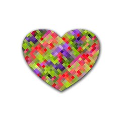Colorful Mosaic Heart Coaster (4 Pack)  by DanaeStudio