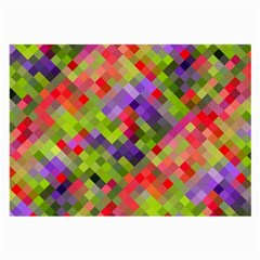 Colorful Mosaic Large Glasses Cloth by DanaeStudio
