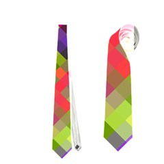 Colorful Mosaic Neckties (one Side)  by DanaeStudio
