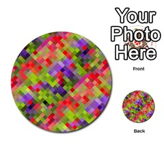 Colorful Mosaic Multi Purpose Cards (round)  by DanaeStudio