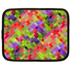 Colorful Mosaic Netbook Case (large) by DanaeStudio