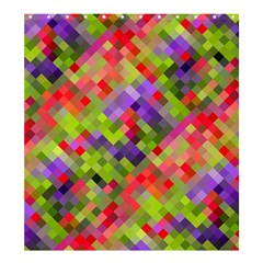 Colorful Mosaic Shower Curtain 66  X 72  (large)  by DanaeStudio
