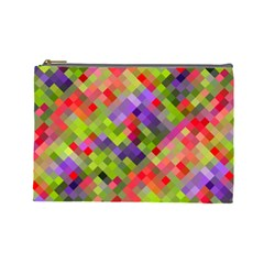 Colorful Mosaic Cosmetic Bag (large)  by DanaeStudio