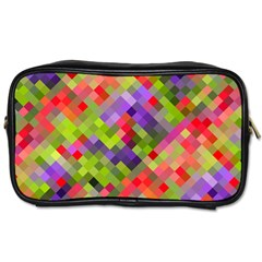Colorful Mosaic Toiletries Bags 2 Side by DanaeStudio