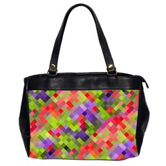 Colorful Mosaic Office Handbags (2 Sides)  by DanaeStudio