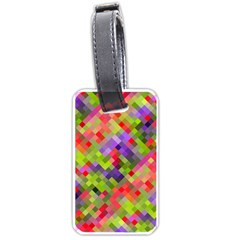 Colorful Mosaic Luggage Tags (one Side)  by DanaeStudio