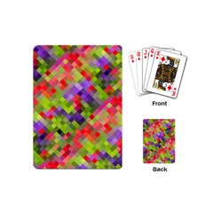 Colorful Mosaic Playing Cards (mini)  by DanaeStudio
