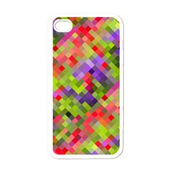 Colorful Mosaic Apple Iphone 4 Case (white) by DanaeStudio