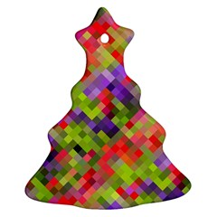 Colorful Mosaic Ornament (christmas Tree) by DanaeStudio