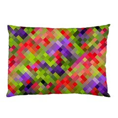 Colorful Mosaic Pillow Case (two Sides) by DanaeStudio
