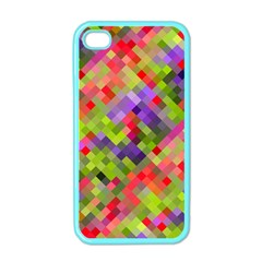 Colorful Mosaic Apple Iphone 4 Case (color) by DanaeStudio