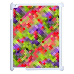 Colorful Mosaic Apple Ipad 2 Case (white) by DanaeStudio