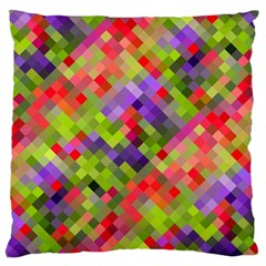Colorful Mosaic Large Cushion Case (one Side) by DanaeStudio