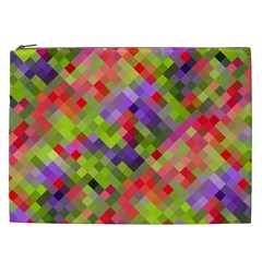 Colorful Mosaic Cosmetic Bag (xxl)  by DanaeStudio