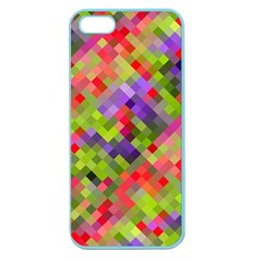Colorful Mosaic Apple Seamless Iphone 5 Case (color) by DanaeStudio