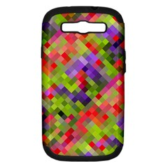 Colorful Mosaic Samsung Galaxy S Iii Hardshell Case (pc+silicone) by DanaeStudio