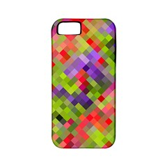 Colorful Mosaic Apple Iphone 5 Classic Hardshell Case (pc+silicone) by DanaeStudio