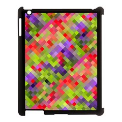 Colorful Mosaic Apple Ipad 3/4 Case (black) by DanaeStudio