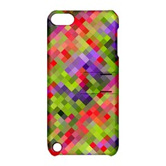 Colorful Mosaic Apple Ipod Touch 5 Hardshell Case With Stand by DanaeStudio