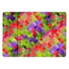 Colorful Mosaic Samsung Galaxy Tab 10 1  P7500 Flip Case by DanaeStudio
