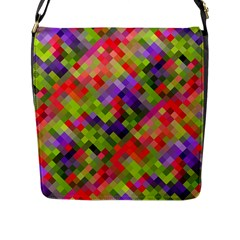 Colorful Mosaic Flap Messenger Bag (l)  by DanaeStudio