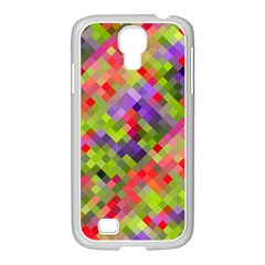 Colorful Mosaic Samsung Galaxy S4 I9500/ I9505 Case (white) by DanaeStudio