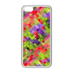 Colorful Mosaic Apple Iphone 5c Seamless Case (white) by DanaeStudio