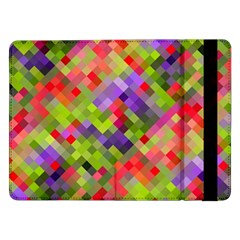 Colorful Mosaic Samsung Galaxy Tab Pro 12 2  Flip Case by DanaeStudio
