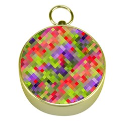 Colorful Mosaic Gold Compasses by DanaeStudio