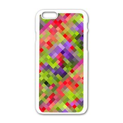 Colorful Mosaic Apple Iphone 6/6s White Enamel Case by DanaeStudio