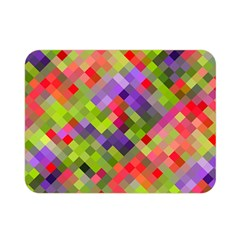 Colorful Mosaic Double Sided Flano Blanket (mini)  by DanaeStudio