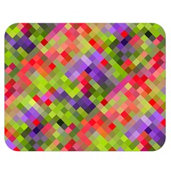 Colorful Mosaic Double Sided Flano Blanket (medium)  by DanaeStudio