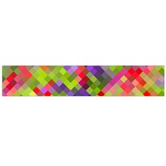 Colorful Mosaic Flano Scarf (large)  by DanaeStudio
