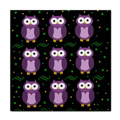 Halloween Purple Owls Pattern Tile Coasters by Valentinaart