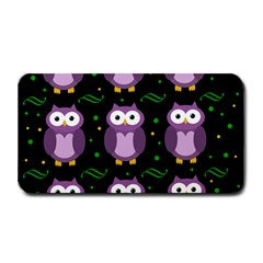 Halloween Purple Owls Pattern Medium Bar Mats by Valentinaart