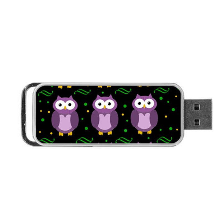 Halloween purple owls pattern Portable USB Flash (Two Sides)