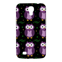 Halloween Purple Owls Pattern Samsung Galaxy Mega 6 3  I9200 Hardshell Case by Valentinaart